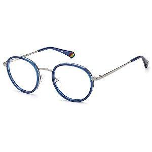 Armação para Óculos Polaroid PLD D421 /51 Azul  - Polarizado