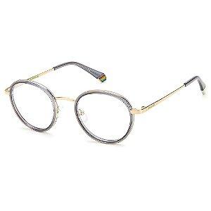 Armação para Óculos Polaroid PLD D421 /51 Cinza - Polarizado