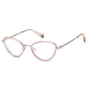 Armação para Óculos Polaroid PLD D420 /52 Pink - Polarizado