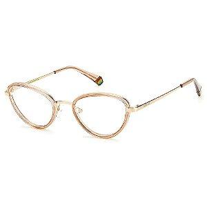Armação para Óculos Polaroid PLD D420 52 Marrom - Polarizado