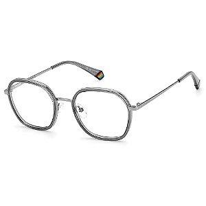Armação para Óculos Polaroid PLD D419 51 Cinza - Polarizado