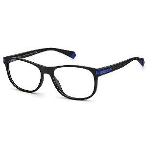 Armação para Óculos Polaroid PLD D417 /55 Preto - Polarizado