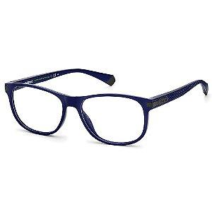 Armação para Óculos Polaroid PLD D417 / 55 Azul - Polarizado