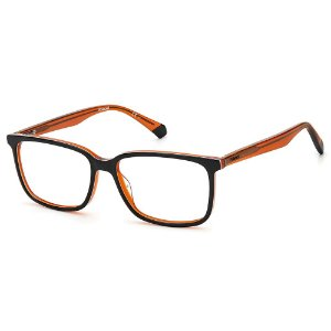 Armação para Óculos Polaroid PLD D394 / 55 Laranja - Clip-On