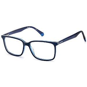 Armação para Óculos Polaroid PLD D394 / 55 - Azul - Clip-On