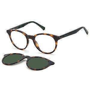 Óculos de Sol Polaroid PLD 8044/CS 581 / 45 Marrom - Clip-On