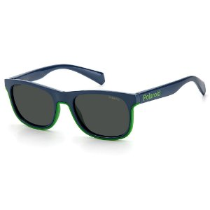 Óculos de Sol Polaroid PLD 8041/S RNB - Azul - 9 a 16 anos