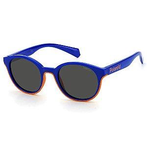Óculos de Sol Polaroid PLD 8040/S RTC - Azul - 9 a 16 anos