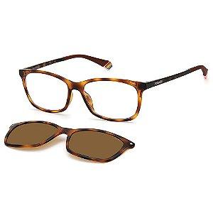 Armação para Óculos Polaroid PLD 6140/CS 086 / 53 - Clip-On