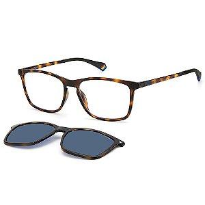 Armação para Óculos Polaroid PLD 6139/CS 086 / 55 - Clip-On