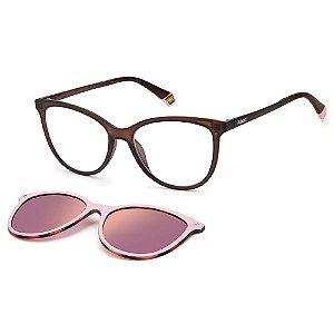 Armação para Óculos Polaroid PLD 6138/CS 35J / 53 - Clip-On
