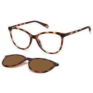 Armação para Óculos Polaroid PLD 6138/CS 086 / 53 - Clip-On