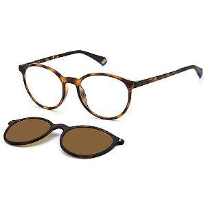 Armação para Óculos Polaroid PLD 6137/CS 086 / 52 - Clip-On