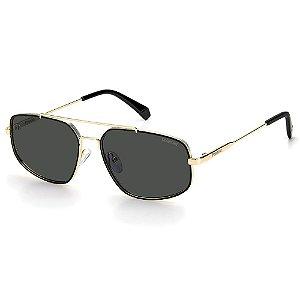 Óculos de Sol Polaroid PLD 2112/S / 58 Dourado - Polarizado