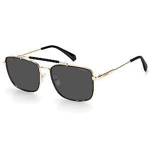 Óculos de Sol Polaroid PLD 2111/S / 57 Dourado - Polarizado