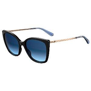 Óculos de Sol Moschino Love MOL018/S 807 5508 / 55 - Preto