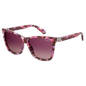 Óculos de Sol Polaroid Pld 4078/S/X YDC Polarizado - Vinho