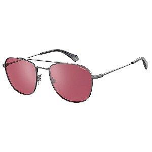 Óculos de Sol Polaroid Pld 2084/G/S 6LB Polarizado - Cinza