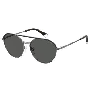Óculos de Sol Polaroid Pld 2107/S/X KJ1 Polarizado - Cinza