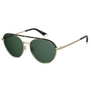 Óculos de Sol Polaroid Pld 2107/S/X J5G Polarizado - Dourado