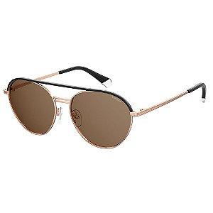 Óculos de Sol Polaroid Pld 2107/S/X DDB Polarizado - Dourado