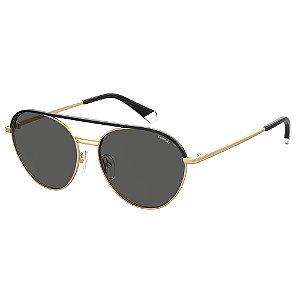 Óculos de Sol Polaroid Pld 2107/S/X AOZ Polarizado - Dourado