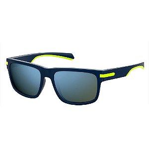Óculos de Sol Polaroid Pld 2066/S FLL Polarizado - 56 Azul