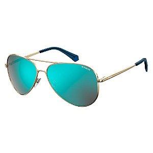Óculos de Sol Polaroid Pld 6012 New J5G Polarizado - Dourado