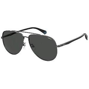 Óculos de Sol Polaroid Pld 2105/G/S V81 Polarizado - Cinza