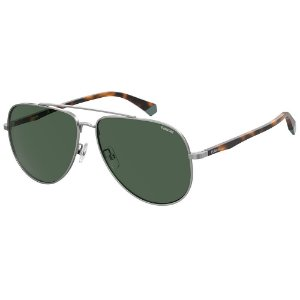 Óculos de Sol Polaroid Pld 2105/G/S 6LB Polarizado - Cinza