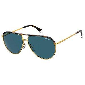 Óculos de Sol Polaroid Pld 2089/S/X YEK Polarizado - Dourado