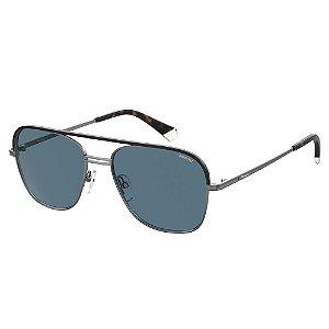 Óculos de Sol Polaroid Pld 2108/S/X KJ1 Polarizado - Cinza
