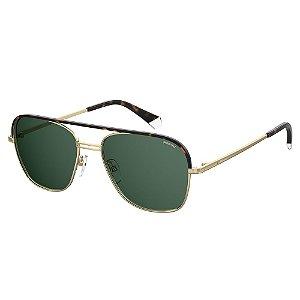 Óculos de Sol Polaroid Pld 2108/S/X J5G Polarizado - Dourado