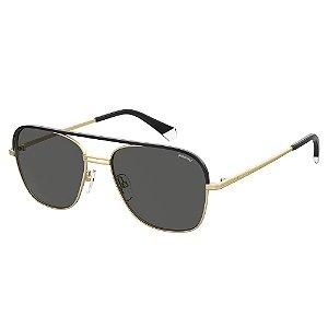 Óculos de Sol Polaroid Pld 2108/S/X AOZ Polarizado - Dourado