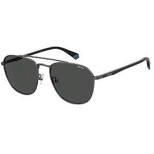 Óculos de Sol Polaroid Pld 2106/G/S V81 Polarizado - Cinza