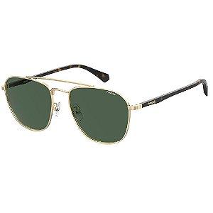 Óculos de Sol Polaroid Pld 2106/G/S J5G Polarizado - Dourado