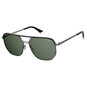 Óculos de Sol Polaroid Pld 2090/S/X SMF Polarizado - Cinza