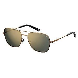 Óculos de Sol Polaroid Pld 2068/S/X J7D 58LM - 58 Dourado