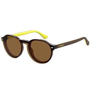 Óculos de Sol Havaianas Arraial/Cs GLN - 49 Marrom - Clip-On