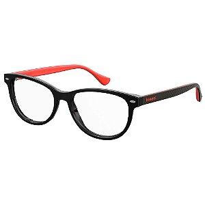 Armação para Óculos Havaianas Pontal/V U4Q 5216 - 52 Preto