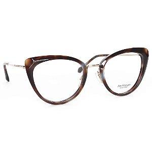 Óculos de Grau Ana Hickmann AH6379G22/53 - Marrom