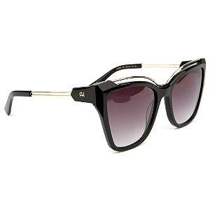 Óculos de Sol Ana Hickmann AH9292 A01/56 Preto/Dourado