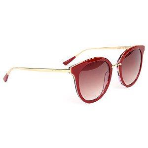 Óculos de Sol Ana Hickmann AH9267 H01/52 Vinho/Dourado