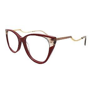 Óculos de Grau Ana Hickmann AH6403 P02/71 - Vermelho