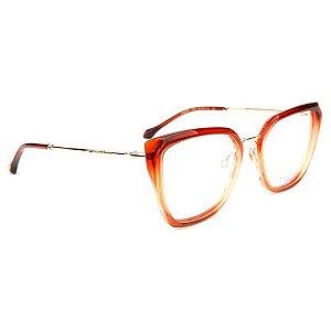 Óculos de Grau Ana Hickmann AH6378 C03/54 Laranja Transparente/Dourado