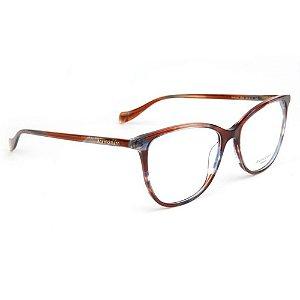 Óculos de Grau Ana Hickmann AH6340 E04/54 Marrom/Azul