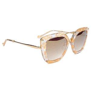 Óculos de Sol Ana Hickmann AH3174 G23/54 Dourado