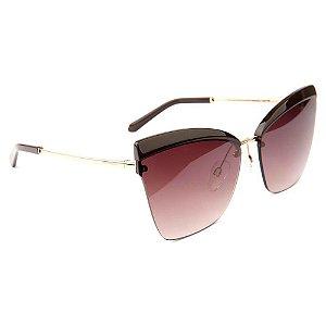 Óculos de Sol Ana Hickmann AH3209 04B/65 Preto/Bronze