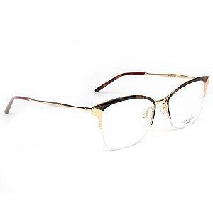 Óculos de Grau Ana Hickmann AH1353 04C/52 Tartaruga/Dourado