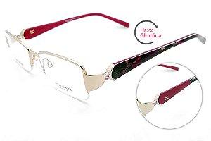 Óculos de Grau Ana Hickmann AH1215 04B/51 Dourado
